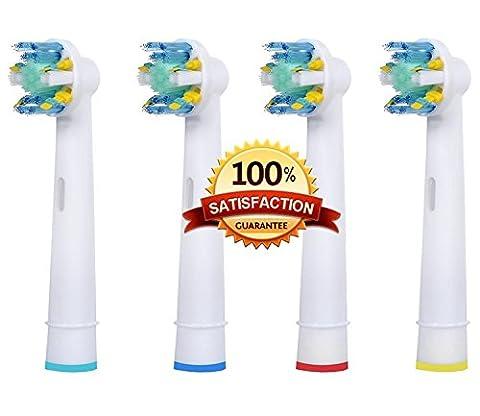 Beauty Nymph Hochwertige Ersatz-Aufsteckbürsten für elektrische Zahnbürste, kompatibel mit Oral B EB-25Floss Action, generische Ersatz-Zahnbürstenköpfe