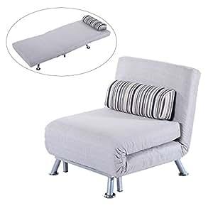Homcom Fold Out Futon Single Sofa Bed