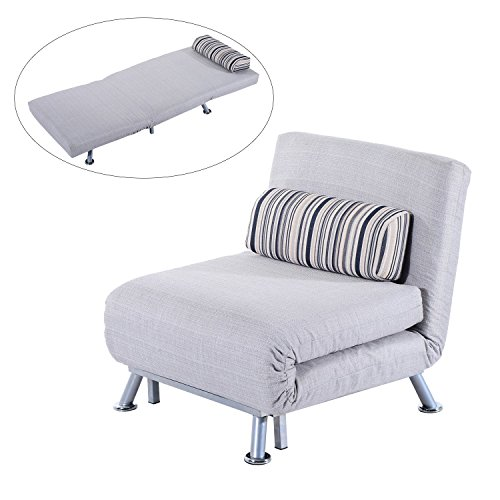 Fold Out Futon Sofa Bed Single Sofa Sleeper Couch Lounger