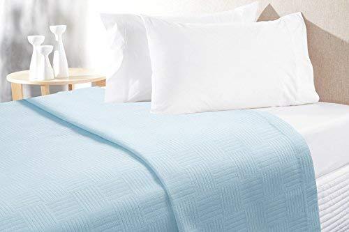 Chiara Rose Waffel Decke, baumwolle, aqua, Twin