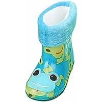 FeiliandaJJ Regen Schuhe, Kind Infant Baby Wasserdichte Tier Gummi Regen Stiefel Kinder Warme Regen Schuhe
