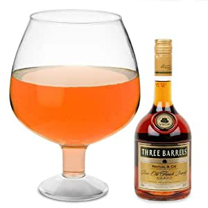 Giant Acrylic Brandy Glass 193.5oz / 5.5ltr | Novelty Brandy Glass, Extra Large Brandy Glass - Ideal as a Punch Bowl or Vase