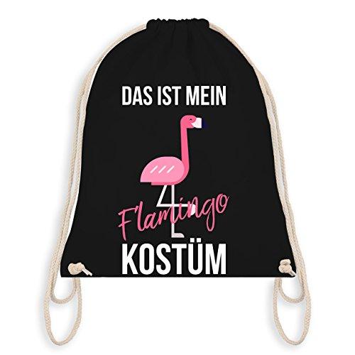 Karneval & Fasching - Das ist mein Flamingo Kostüm - Turnbeutel I Gym Bag Schwarz
