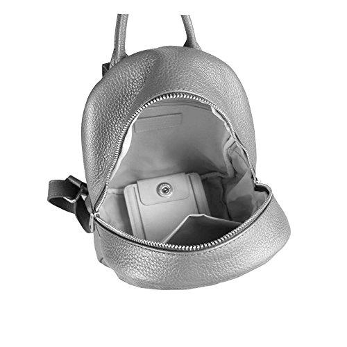 RUCKSACK Crossbag LEDER MADE Daypack BackPack Himmelblau Ledertasche Umhängetasche Lederrucksack Handtasche Schultertasche IN ITALY Hellblau Tasche DAMEN Cityrucksack OBC Echt xXYaqWddw