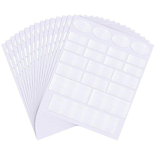 Pllieay 315 Stücke Kleidungsetiketten Etiketten Kleidung BlankBeschreibbareStoffEtikettenfürKinderSchulUniformundKleidung
