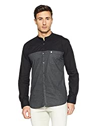 French Connection Mens Slim Fit Casual Shirt (52HJV/3_7162-Black_XL)