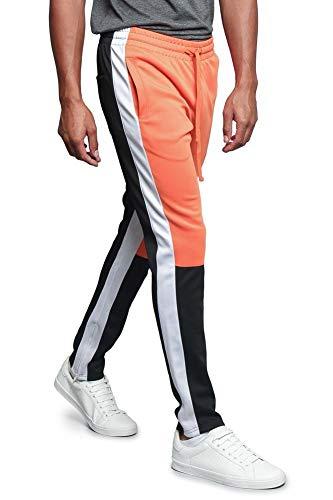 G-Style USA Herren Trainingshose Side Stripe Knöchelreißverschluss Kordelzug Premium - Mehrfarbig - Mittel (Kleinen Emoji Jogger)