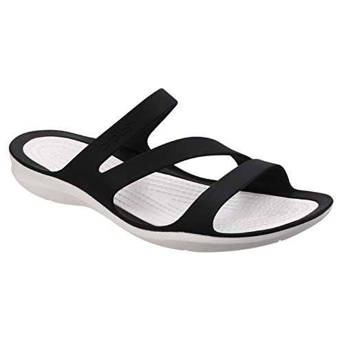Sandalo Crocs Swiftwater W, Damen Sandalen Schwarz Nero / Bianco