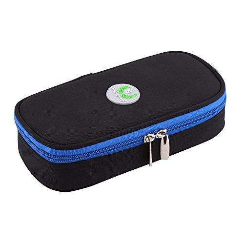 Zerodis Diabetikertasche diabetischer Insulin Kühler tragender Fall Taschen Organisator medizinischer Isolierkühlung Reise Kasten (Schwarz)