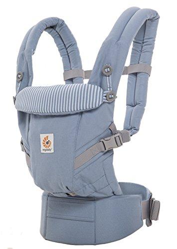 ERGObaby Babytrage für Neugeborene bis Kleinkind Azure Blue, Adapt 3-Positionen Ergonomische Baby-Tragetasche und Kindertrage, Tragesystem