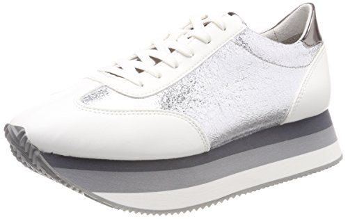 Tamaris Damen 23703 Sneaker, weiß, 38 EU