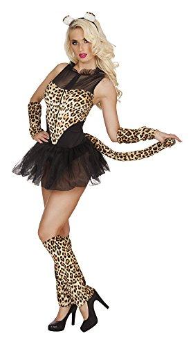 Boland 83634 Erwachsenenkostüm Hot Cheetah, womens, - Sexy Geparden Kostüm