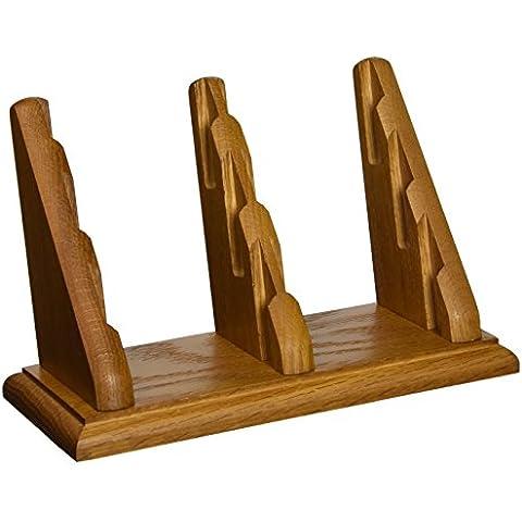 In legno martello bcc2–6Mo 6tasca Countertop biglietti da visita in rovere medio