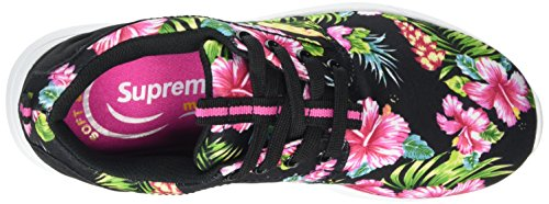Supremo Damenschuhe, Baskets Basses femme Multicolore - Mehrfarbig (black-multi)