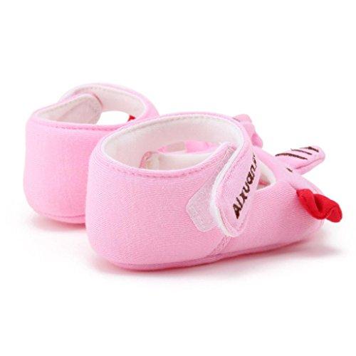Baby Schuhe, Switchali Cartoon Soft Sole Kleinkind Schuhe für 0-18 Monat Rosa 2
