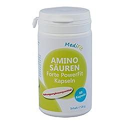 MediFit Aminosäuren Forte Power Fit Kapseln, 1er Pack (1 x 60 Stück)