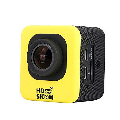 SJCAM M10 WIFI Version Novatek 96655 12MP 1080P Cube Mini Sports Action Camera - 1.5 inch LCD 170 Degree Wide Lens Waterproof Diving HD Camcorder AV Yellow