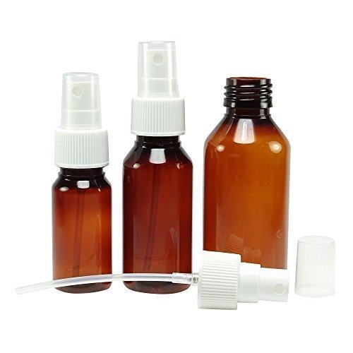 Lot de 12 Ambre plastique atomiseur de parfum spray bouteilles vides Boston round Bouteilles gros parfum rechargeable Huiles Essentielles Flacon 50 ml atomiseur