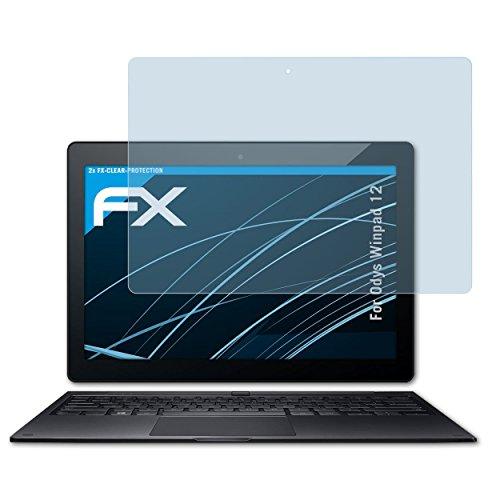 atFolix Schutzfolie kompatibel mit Odys Winpad 12 Folie, ultraklare FX Bildschirmschutzfolie (2X)
