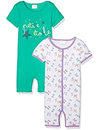 Twins Baby Girls Sleepsuit, Pack of 2