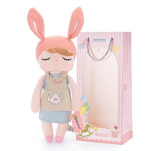 Metoo Plüsch Angela Mädchen Schlafen Puppen Teekanne Stil mit Geschenktüte (12 Zoll) - Mädchen Geschenke Spielzeug