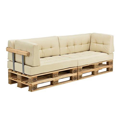 [en.casa] Set de cojines para sofá de...