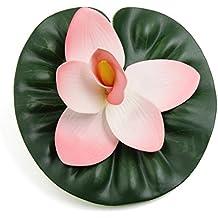 sourcingmap® Planta Flotante Acuario De La Flor Rosada De La Espuma Del Cymbidium Estanque Decoración Del Ornamento 17 Diámetro