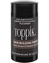 TOPPIK Fibres Capillaires Densifiantes Châtain, 3 g