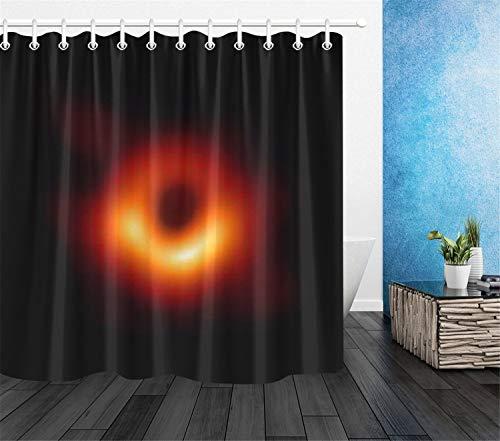 Chickwin Black Holes Tende da Doccia Antimuffa Impermeabile, Relatività Einstein Universo Spazio 3D Stampato Moderne Poliestere Resistente Tenda della Vasca da Bagno con 12 Ganci (120x180cm,A)