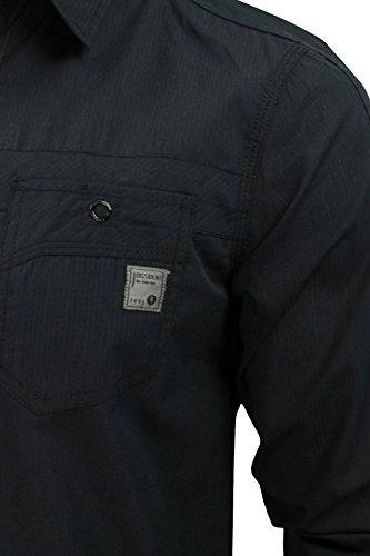 Dissident 'Lazer' - Chemise pour homme - manches longues à remonter Noir
