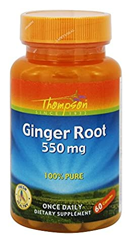 Ginger Root 550 mg 60 Caps by Thompson
