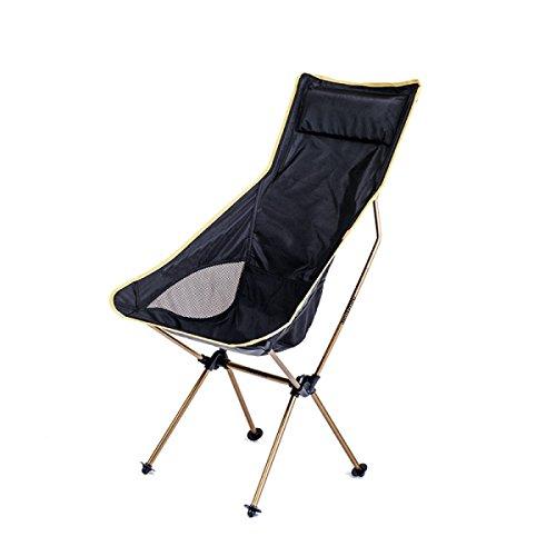 Outdoor Tragbare Klappstühle Ultra-light Camping Liegestühle Angelstühle Malerei Stühle Freizeit Reisen Zu Hause Stühle,Champagne (Reise-stuhl Klappstuhl Camping)