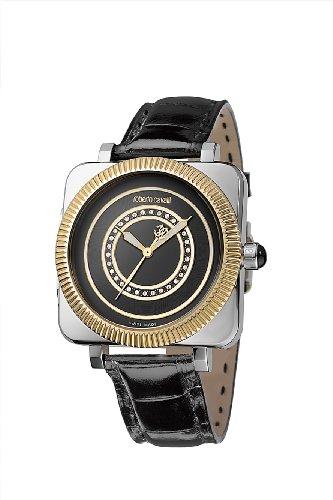 Roberto Cavalli - R7251166125 - Montre Mixte - Quartz Analogique - Bracelet Cuir Noir