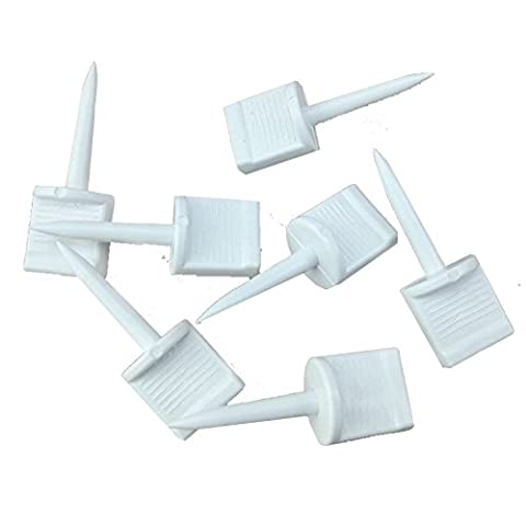 White Plastic Archery Paper Target Face Pins Hunting Targets Accessories for Hold Paper Targets on Foam, 25Pcs