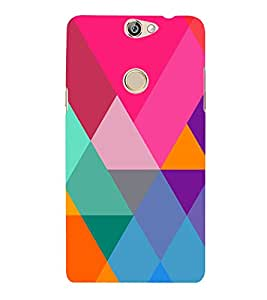 Graphic Color Pattern 3D Hard Polycarbonate Designer Back Case Cover for Coolpad Max A-8