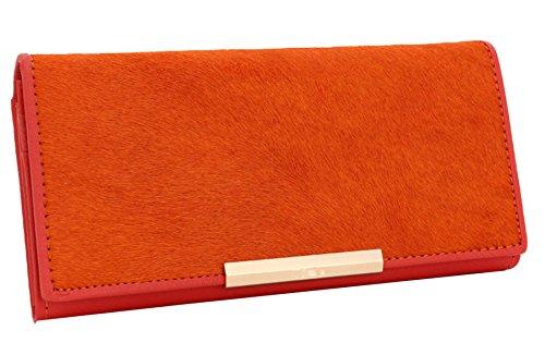 Sezione In Pelle Ms. Lungo Frizione Ad Alta Capacità Orange