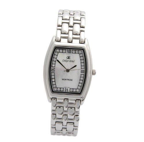 Oskar Emil 600l ss mop – Reloj de mujer de cuarzo, correa de acero inoxidable color plata