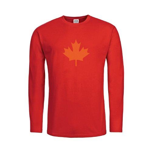 nder Langarm T-Shirt Kanada Ahorn 20drpt15-ktls00033-80 Textil red / Motiv orange Gr. 116 (80 Kostüme Für Kanada)