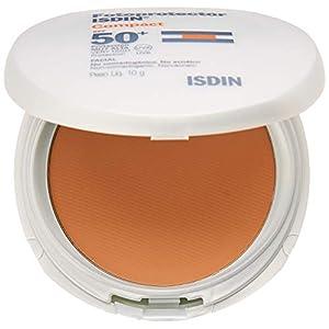 Fotoprotector ISDIN Compact SPF 50+ Arena – Protector solar facial, Cobertura natural de larga duración, Apto para piel…