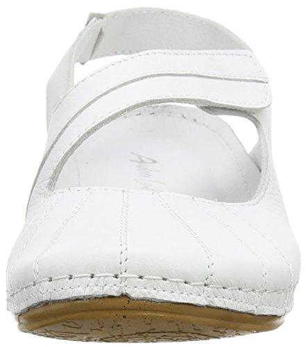 Andrea Conti  0021562, Sandales à talon compensé femme Blanc - White (weiß 001)