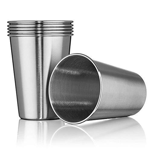 Kimmyer 10 PCS en Acier Inoxydable Tasses 17oz Simple Couche Tasse recourbe 304 en Acier Inoxydable bière Mug Cadeau Tasse à café-empilable et Unbreakable Tasses à Boire BPA Voyage Gratuit