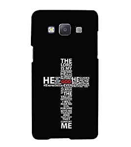 FUSON The Lord My Shepard 3D Hard Polycarbonate Designer Back Case Cover for Samsung Galaxy A7 (2015) :: Samsung Galaxy A7 Duos (2015) :: Samsung Galaxy A7 A700F A700Fd A700K/A700S/A700L A7000 A7009 A700H A700Yd