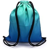 Sumnacon Unisex Gym Sack Bag Drawstring Backpack Bag PE Kit Bag Swimming,  Running,Boxing f8088dc09d