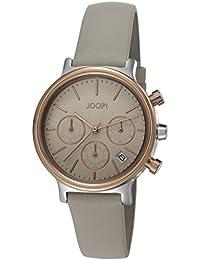 Joop! Damen-Armbanduhr Carla roségold Chronograph Quarz Leder JP101502003