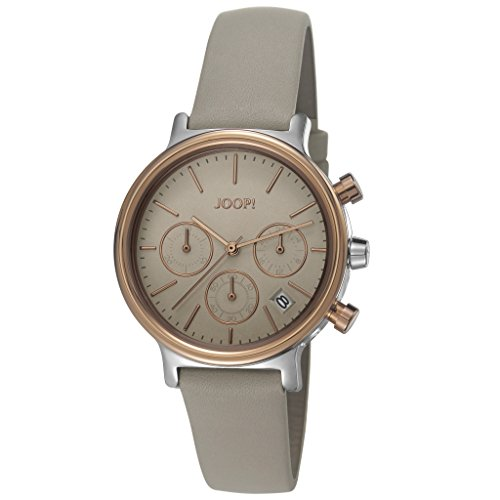Joop! Carla Women's Quartz Watch with Rose Gold Dial Chronograph Display Leather JP101502003