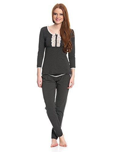 Vive Maria Damen Pyjama French Lolita Schwarz