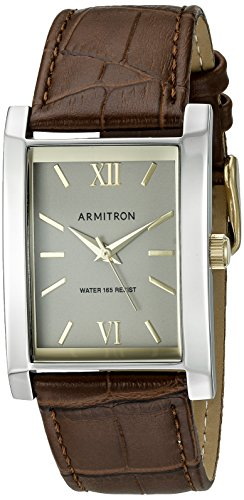 armitron-mens-20-5118gyttbn-rectangular-shaped-brown-leather-strap-watch