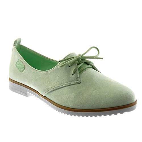 Angkorly Chaussure Mode Mocassin slip-on semelle basket femme noeud Talon bloc 2 CM Vert