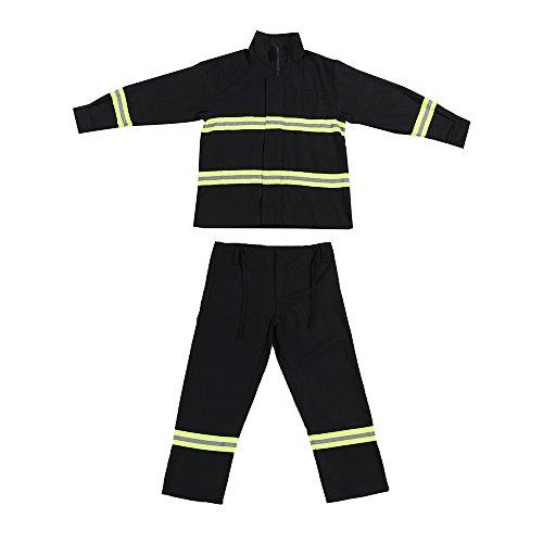 feuerfeste kleidung OWSOO Flammhemmende Kleidung Feuerbeständige Kleidung Feuerfeste wasserdichte hitzebeständige Feuerbekämpfungsausrüstung