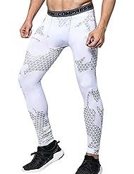 Térmicas de Compresión Leggings Polainas Apretadas Larga Base Capa Pantalones de Correr para Hombre
